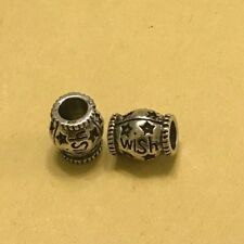 'Wish' Star Bead Charm Spacer Fits European Bracelets &Necklace