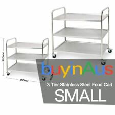 Stainless Steel Kitchen Trolley Cart 3 Tiers Dining Food Utility 81*46*85R