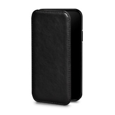 Case SENA Deen Tan WALLET BOOK Genuine Leather for APPLE iPhone XS MAX - BLACK