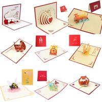 Karte 3D Grußkarte Glückwunschkarte-Geburtstag-Geschenk Greeting Card DIY