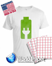 "HEAT TRANSFER PAPER RED GRID IRON ON LIGHT T SHIRT INKJET PAPER 100 PK 8.5""X11"""