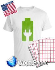 Inkjet Heat Transfer Paper 100 Sh Iron On Red Grid 85 X 11 For Light Garments