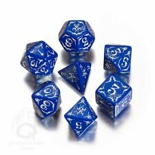 Pathfinder Second Darkness Dice - 7 Piece - Blue and White