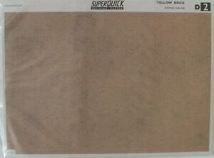 Superquick Building Paper OO Gauge (6 Sheets) Tiles Slates Stone Brick Walls