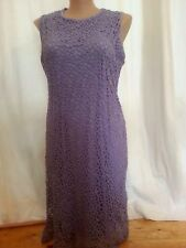 Summer purple Lilac  Dinner celebration Party lace over lined DRESS size 18 NEW