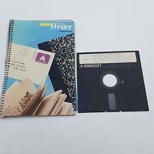 """ATARI Writer Word Processor (1982) 5.25"""" Floppy Disk & User Manual"""