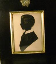 More details for silhouette a young man facing left bronzed english school c1870