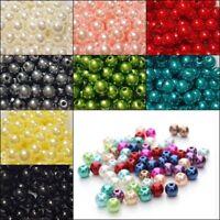 Wachsperlen 6mm / 8mm Acryl Perlen Kunststoff Schmuck Deko Hochzeit Farbauswahl