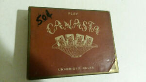 Canasta Arrco playing cards 1950 issued complete w unabridged rules dog cat