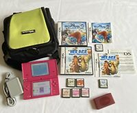 Nintendo Dsi Pink Bundle w/ 7 Games, Charger & Carry Case!!
