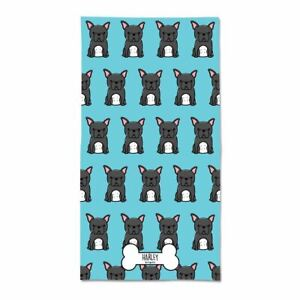 Personalised French Bulldog Beach Towel Dog Themed Gifts Frenchie Merchandise