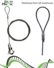 Hanging kit with 2m Wire Cable And adjustable height hook PACK OF 2