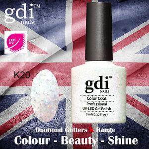 UK SELLER Gdi Nails Diamond Glitters K20 UV/LED Gel Soak Off nail polish