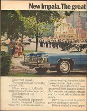 1973 Chevrolet Impala 2-door blue photo interior views 2-pgs (102616)