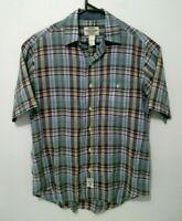Ralph Lauren Mens Shirt Size M 'Polo Jeans' Check Short Sleeve Button Up Cotton