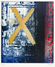 "Winner,Gerd x "" Coloured aquatinta-radierung ON VELIN ,Autographed,60ER Edition"