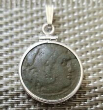 Alexander III The Great Authentic Ancient Greek Coin 925 Silver Pendant Charm