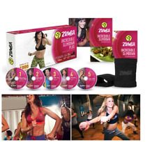 Zumba Fitness World Cardio Dance Party Incredible Slimdown DVD Set System New