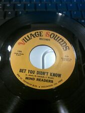 MIND READERS  Bitter Tears/Bet You Didn't Know R&B SOUL  EX CONDITION 45RPM 7in