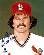 Ken Reitz Signed Photo - 8x10 - St. Louis Cardinals - Tough Signer w/ COA