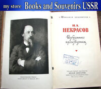 1961 Book USSR Russian poetry By N. A. Nekrasov, selected works, poems (lot 817)
