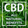 CBD ALL NATURAL BENEFITS (CHOOSE YOUR SIZE) PERF WINDOW VINYL DECAL NEW