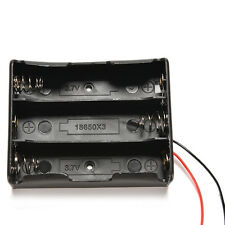 Plastic Battery Storage Case Box Holder For 3x18650 3.7V With Wire Leads*-*