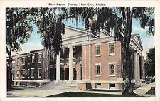 1920's First Baptist Church Plant City FL post card
