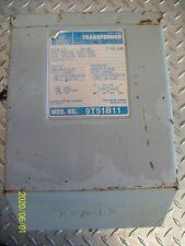 NEW GENERAL ELECTRIC TRANSFORMER 9T51B11, 1.5 KVA, PRI. 240/480V, SEC. 120/240V