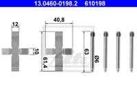 Zubehörsatz, Scheibenbremsbelag für Bremsanlage Hinterachse ATE 13.0460-0198.2