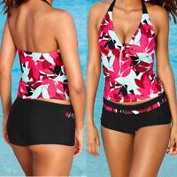 Women Tankini Sets With Boy Shorts Ladies Swimwear Two Piece Swimsuits sy