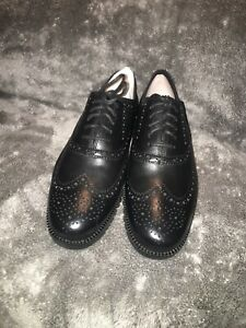 Cole Haan Zerogrand Wingtip Oxford Leather Black Size 10 New with Box (C20719)