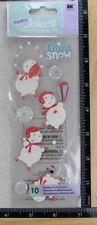 Jolee's THINK SNOW Boutique Stickers WINTER FUN SNOWMEN SNOWBALLS NEW