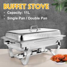 More details for 11l trays bain marie chafing dish stainless steel buffet food warmer