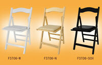 SoBuy Folding Wooden Chair, Office Chair Dining Chair with Padded Seat, FST06,UK