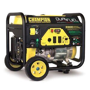 100231 - 5500/6900w Champion Dual Fuel Generator, manual start