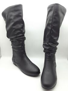 Journee Collection Jayne Women Shoes Extra Wide Calf Boot Black Sz 10 M