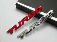 TURBO CAR BADGE 3D CHROME STICKER METAL EMBLEM DECAL SILVER UNIVERSAL