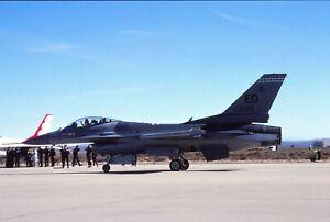 Original colour slide F-16C 80-550/ED of 416 TS USAF
