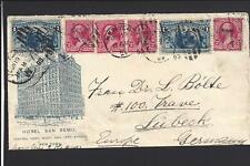 NEW YORK,NEW YORK, TRANSATLANTIC COLUMBIAN COVER TO GERMANY, ILLUST HOTEL .