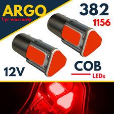 1156 Bombillas LED Ba15s Bayoneta Rojo 382 P21w coche freno deja cola luz de niebla COB 12v