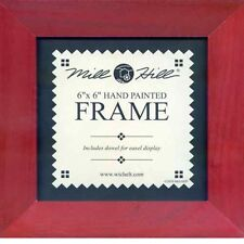 MILL HILL FRAME 6 x 6 in Fits Mill Hill Button & Bead Cross Stitch Kits RED