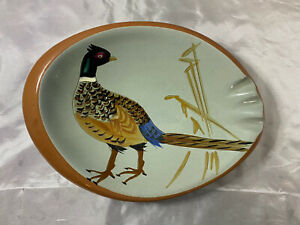 Stangl Ceramic Hand Painted Pheasant Ashtray Sportsman Series