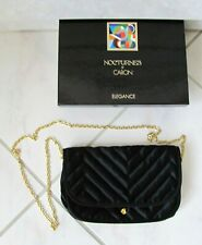Parfums Caron NOCTURNES Small Black Satin Evening Bag - New in Box / No Perfume
