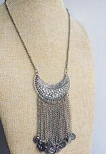 Plata Tibetana Estilo Vintage Bohemio Gypsy Tíbet Borla Collar mexicano