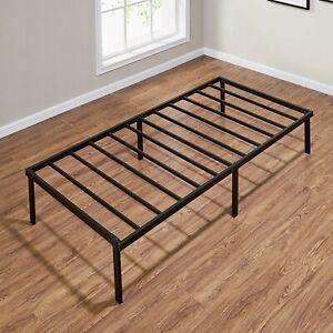 """Mainstays 14"""" Heavy Duty Black Steel Twin Size Bed Frame"""