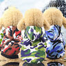 Camouflage Pocket Two Feet Sweatshirt Sports Wind Pet Cloth Cute Dog Cat Clothes