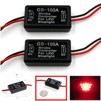 GS-100A LED Brake Stop Light Strobe Flash Module Controller Box For Car Vehic FE
