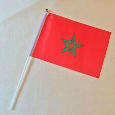 Drapeau Maroc - 15cm X 20 cm - Les 12 - Livraison gratuite