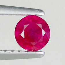 LUSTROUS - BEST GRAED PINK RED - TANZANIA 0.44 ct  NATURAL RUBY - Round _ 3007